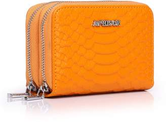 APHION Leather Pure RFID Blocking Cit Card Holder Travel Wallet for Women/Gift Box 01