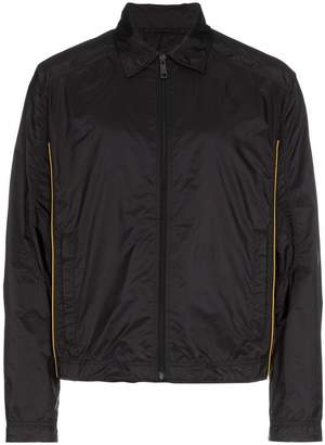 Prada black bordeux nylon windbreaker