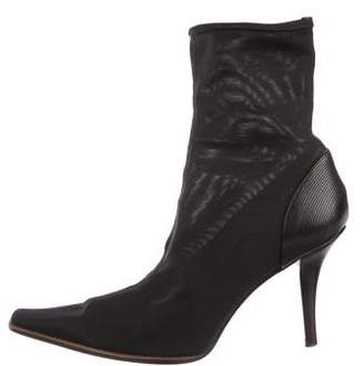 Sergio Rossi Mesh Ankle Boots