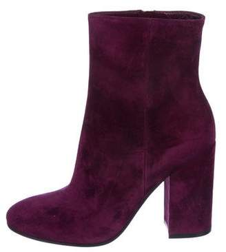 Gianvito Rossi Suede Round-Toe Ankle Boots w/ Tags