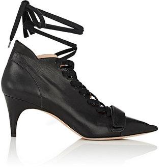 Derek Lam Women's Montparnasse Ankle-Tie Booties-BLACK $850 thestylecure.com