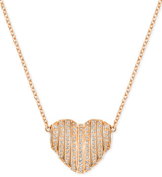 Swarovski Changeable Crystal Pavé Heart Pendant Necklace $125 thestylecure.com