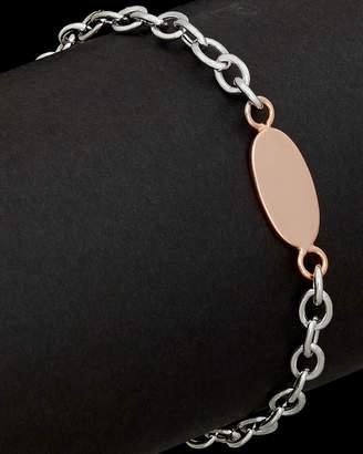 Italian Silver Italian Two-Tone Silver Plated Bracelet