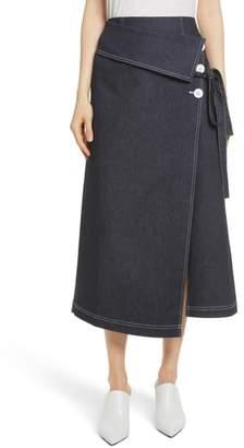 Robert Rodriguez Contrast Stitch Denim Skirt