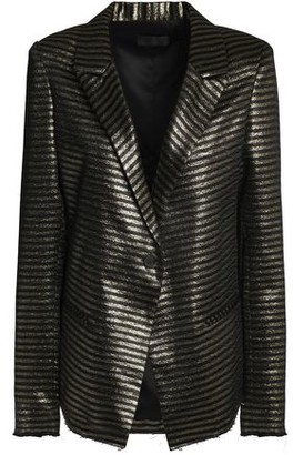 RtA Iggy Striped Metallic Jacquard Blazer
