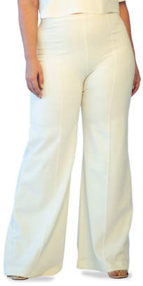 Ripley Rader Plus Size High-Rise Wide-Leg Ponte Pants