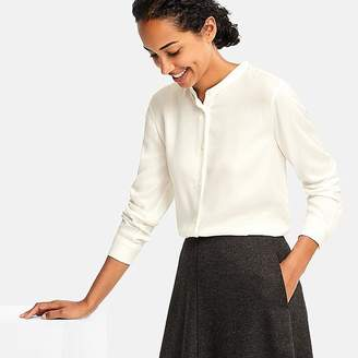 Uniqlo Women's Rayon Long-sleeve Blouse (online Exclusive)