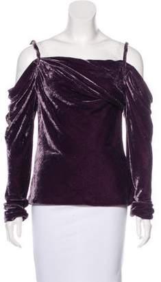 Ralph Lauren Silk-Blend Velvet Top