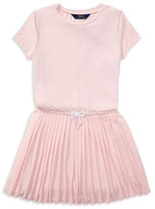 Polo Ralph Lauren Girls' Pleated Tee Dress - Big Kid