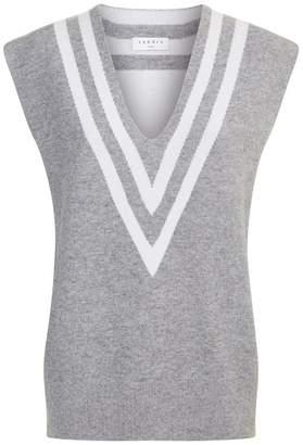 Sandro Stripe Detail Sweater Vest