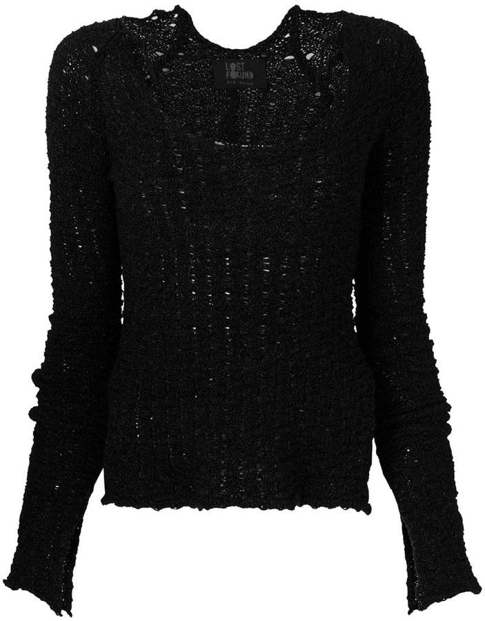 Lost & Found Ria Dunn long-sleeve fitted sweater