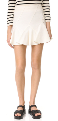 Derek Lam 10 Crosby Flare Miniskirt with Lacing $325 thestylecure.com