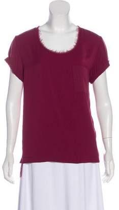 Rag & Bone Short Sleeve Woven Top