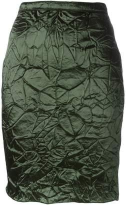 Nina Ricci crease effect skirt