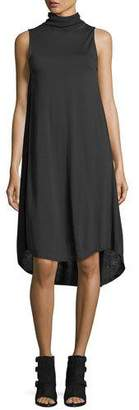 Rag & Bone Nova Turtleneck Sleeveless High-Low Shift Dress