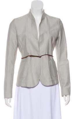Fabiana Filippi Pinstripe Belted Jacket
