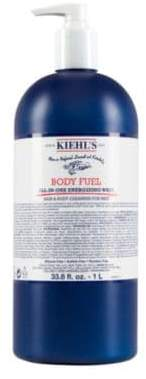 Kiehl's Body Fuel All-In-One Energizing Wash For Hair& Body/33.8 oz.