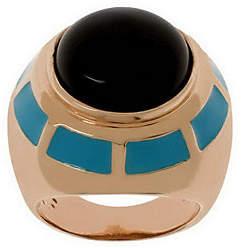 Bronzo Italia Gemstone & Enamel Bold Ring