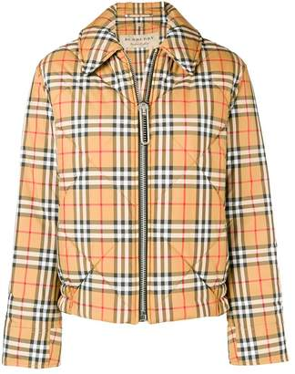 Burberry checked bomber jacket