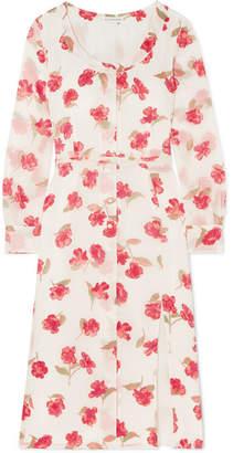 Altuzarra Livia Floral-print Chiffon Dress - White