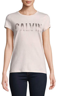 Calvin Klein Jeans Bonded Satin Logo Tee