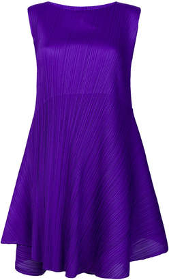 Pleats Please Issey Miyake pleated asymmetric dress