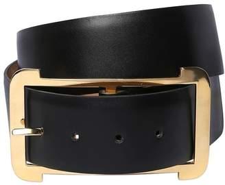Elie Saab 40mm High Waist Leather Belt