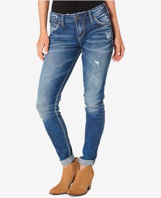 Silver Jeans Ripped Girlfriend Jeans