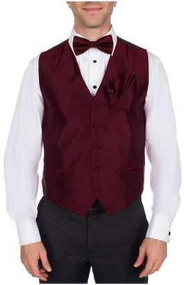Buy Your Ties Men's Solid Formal Vest Bow Tie and Hanky Set