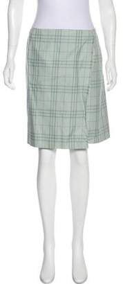 Burberry Nova Check Knee-Length Skirt