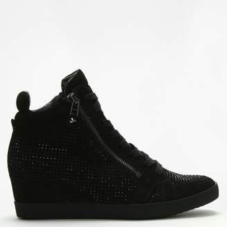 Kennel + Schmenger Kennel & Schmenger Dalton Black Suede Embellished Wedge High Tops