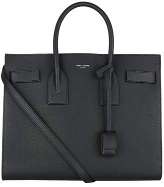 Saint Laurent Small Leather Sac De Jour Tote Bag