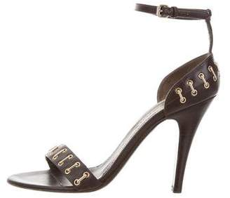 Burberry Embellished Leather Sandals