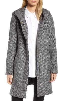 Cole Haan Fuzzy Houndstooth Coat