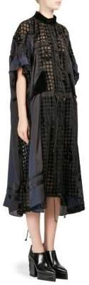Sacai Velvet Semi-Sheer Dress