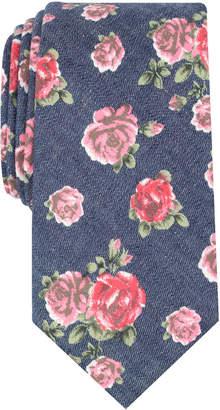 Bar III Men's Douglass Rose Floral Skinny Tie