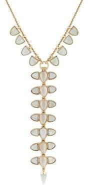 Lucky Brand Golden Hour Statement Crystal Y Necklace