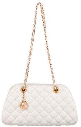 Chopard Quilted Leather Chain-Link Strap Shoulder Bag