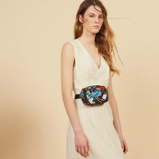 Sandro Midi-Length Pinstripe Dress