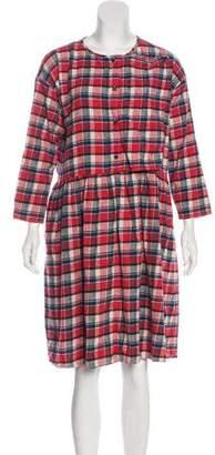 Creatures of Comfort Ruffled Flannel Dress