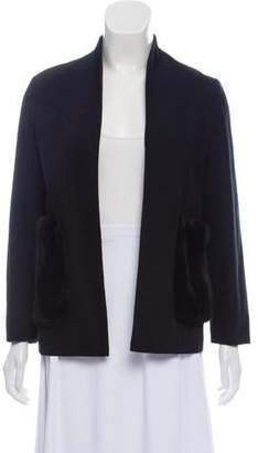 Harvey Faircloth Collarless Open Front Jacket