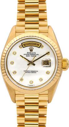 Rolex Pre-Owned 36mm 18k Diamond Day-Date Bracelet Watch