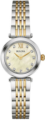 Bulova Womens Diamond-Accent Two-Tone Stainless Steel Bracelet Watch 98P154 $243.75 thestylecure.com