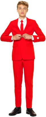 OppoSuits Red Devil Two-Piece Suit with Tie