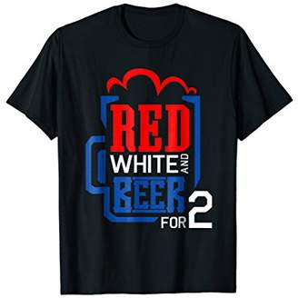 4th Of July Pregnancy Reveal Drinking for Two Shirt Men Gift
