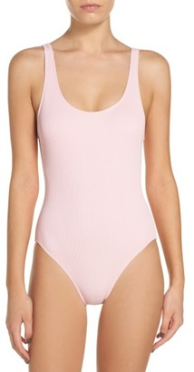 Women's Solid & Striped Anne Marie One-Piece Swimsuit $168 thestylecure.com