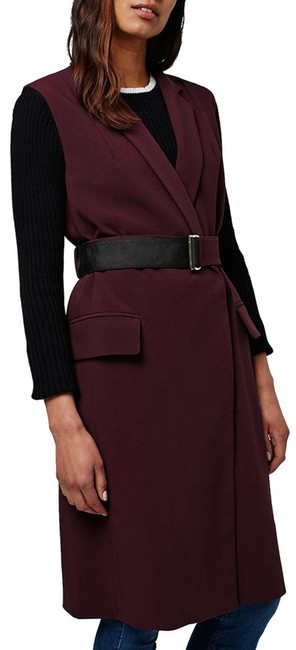 Topshop TOPSHOP Sleeveless Belted Coat