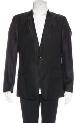 Versace Tonal Satin Striped Blazer