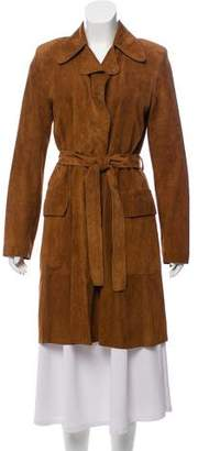 Narciso Rodriguez Structured Suede Coat