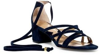 Adrienne Vittadini Alesia Strappy Block Sandal $110 thestylecure.com